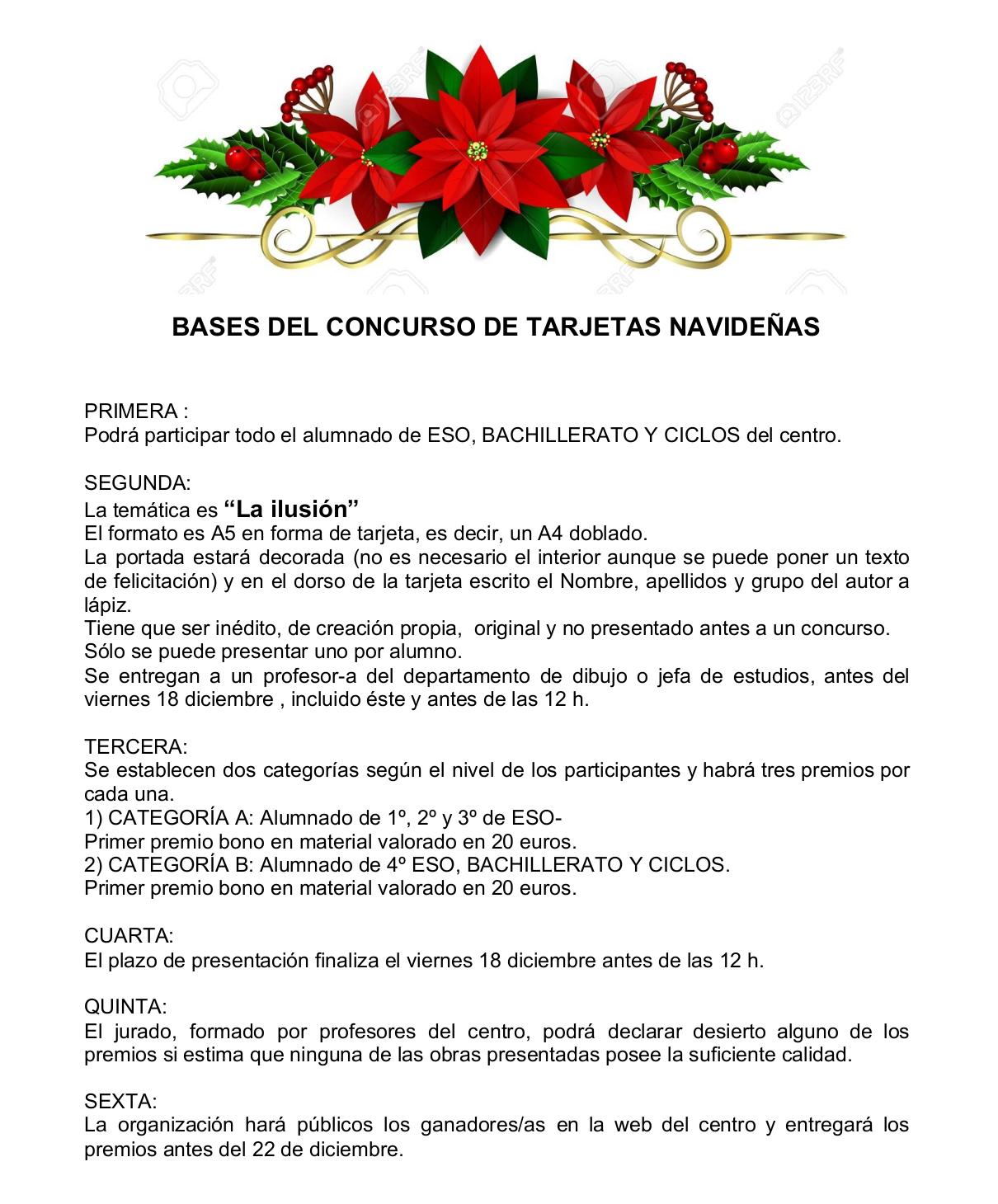 Imagen de la noticia: CONCURSO DE TARJETAS NAVIDEÑAS