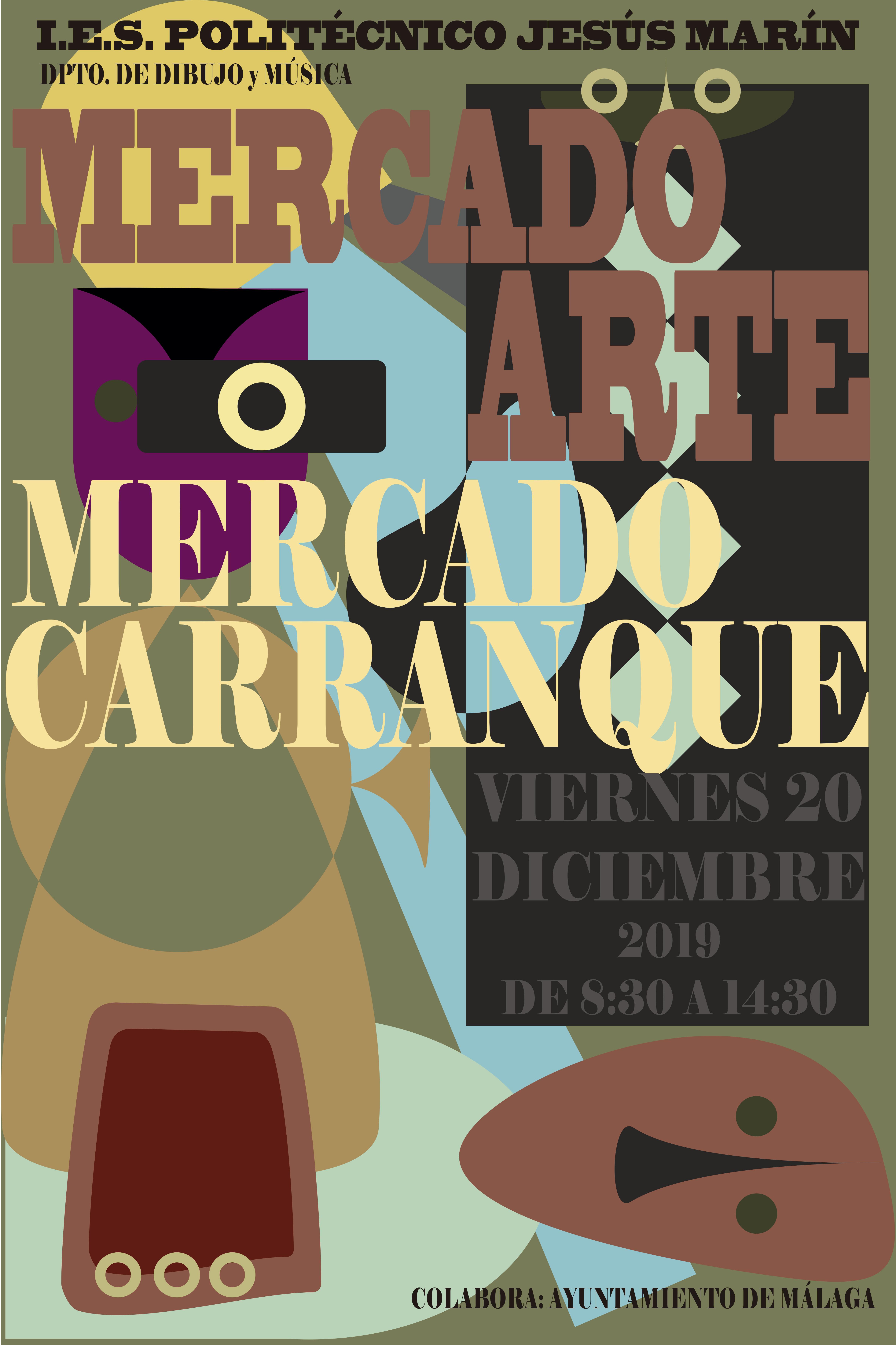 Imagen de la noticia: MERCADO ARTE EN EL MERCADO DE CARRANQUE. VIERNES 20 DE DICIEMBRE DE 8:30 A 14:30H.